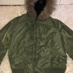 mossimo green winter jacket